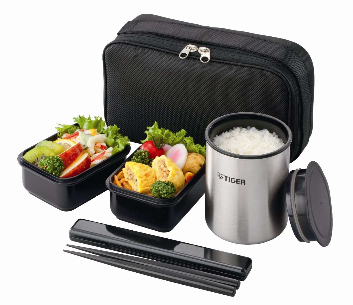 f s thermos lunch box tiger vacuum stainless steel bento bottle lwy r030 k ebay. Black Bedroom Furniture Sets. Home Design Ideas